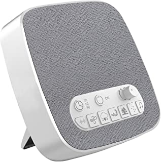 White Noise Machine, Electype Portable Sleep Therapy Sound Machine with Auto-Off Timer and USB Output - 7 Kinds of White Noise Relaxing Soothing Natural Sound - for Baby, Kids, Adult, Light-Sleeper