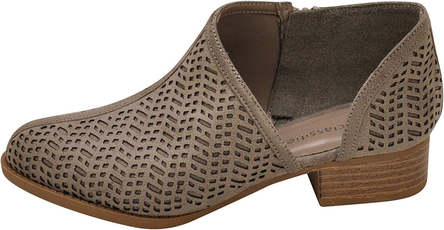 City Classified Decade-S Women's Perforated Ankle Booties