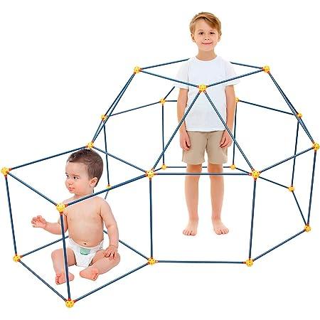 EXTSUD DIY Forts Bauspielzeug, Konstruktionspielzeug Kinder Schloss Baustein Bausatz Kunststoff Bauset Baukasten Lernspielzeug Geschenk für Kinder Jungen Mädchen ab 6 Jahre