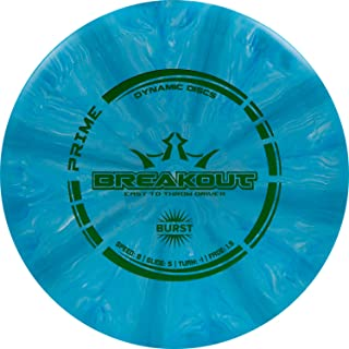 Dynamic Discs Prime Burst Breakout Disc Golf Driver | Frisbee Golf Fairway Driver | Understable Golf Disc | Perfect for Beginners | Stamp Colors Will Vary