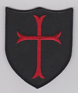 Navy Seals Red Cross Crusader Shield Military Black Ops Swat Patch Hook fastener