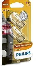 Philips 12065B2 Light Bulbs Glass Base W21W Pack of 2 in Blister Pack