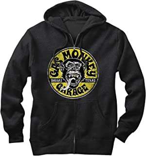 Gas Monkey Men's Logo Circle Zip Up Hoodie