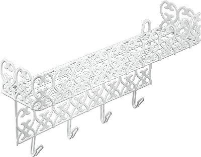 Metaltex Mensola conganc Florenz Arredo e Decorazioni casa, Bianco