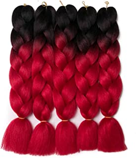 Best black and red braiding hair Reviews