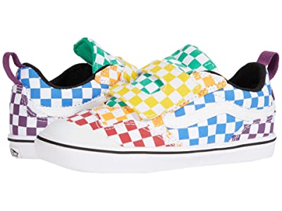 Vans Kids Autism Awareness ComfyCush New Skool V (Infant/Toddler) ((Checkerboard) Multi/True White) Girls Shoes