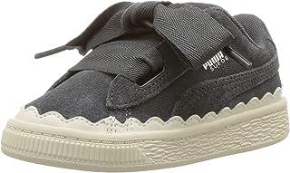 PUMA 彪马儿童麂皮心形橡胶运动鞋 铁门-蜂鸣器白色 5 M US Toddler