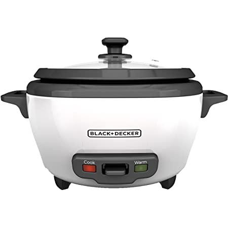 BLACK+DECKER Rice Cooker, 6-cup, White