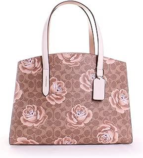 Womens Charlie Leather Floral Tote Handbag