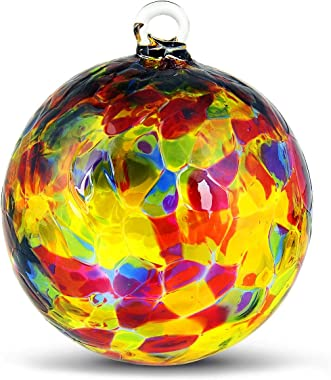 Friendship Ball Jewel Tones 4 Inch Inch Kugel Witch Ball by Iron Art Glass Designs
