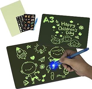 SKYREAT A3 (16,7 pouces) planche à dessin magique lueur dans l'obscurité avec lumière pour enfants tableau de peinture jou...