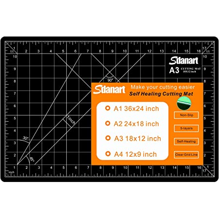 """Sdanart Self Healing Cutting Mat: 12""""×18"""" Double Sided 5-Ply Rotary Cutting Board for Sewing, Crafts, Quilting, Fabric, Hobby, Art Project"""
