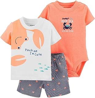 Baby Boys Chambo 3Piece Shortsleeve T-Shirt Top Denim Short /& Cap Set.6-23Months