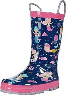 Western Chief Kids' Waterproof Easy-on Printed Rain Boot Shoe
