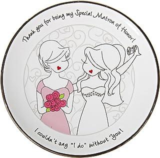 "Pavilion Gift Company Philosophies Matron of Honor Gift Ceramic Jewelry Dish, 5"""