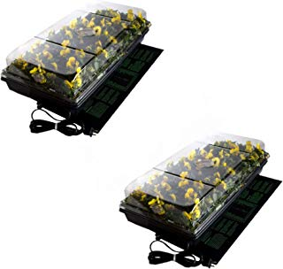 "Hydrofarm Jump Start,CK64050 Germination Station w/UL Listed Heat Mat, Tray, 72-Cell Pack, and 2"" Dome (2 Pack)"