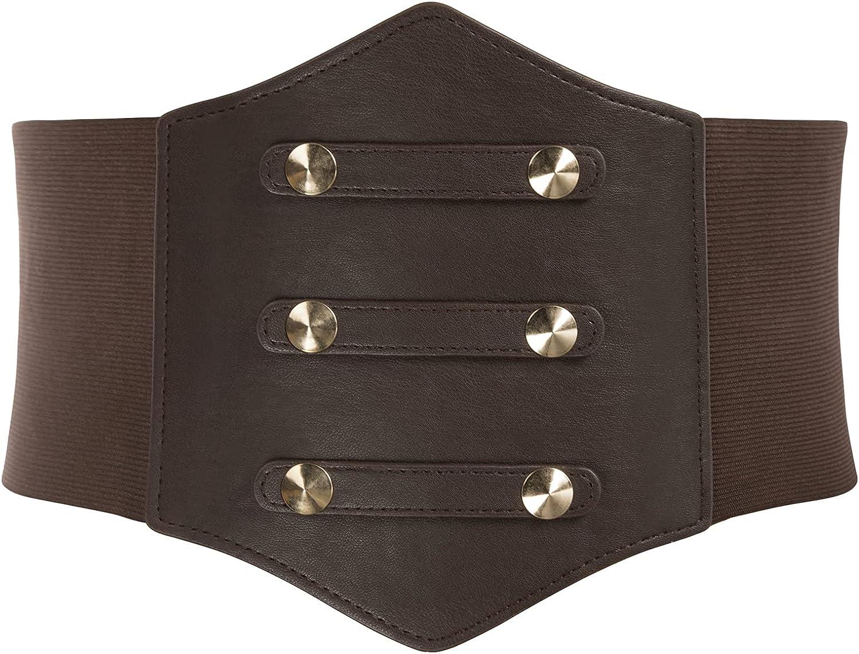 Steampunk Plus Size Clothing & Costumes GRACE KARIN Womens Corset Belt Vintage Lace-up Cinch Elastic Waist Belt  AT vintagedancer.com
