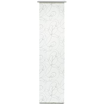 Opaque GARDINIA Panneau Japonais Tissu Uni 60 x 245 cm LxH 1 Pi/èce Noir
