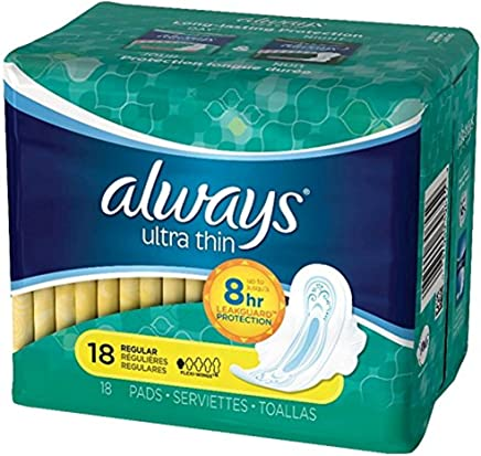 Amazon.com: Always Ultra Thin Regular Flexi-Wings Pads 18 ct: Health & Personal Care