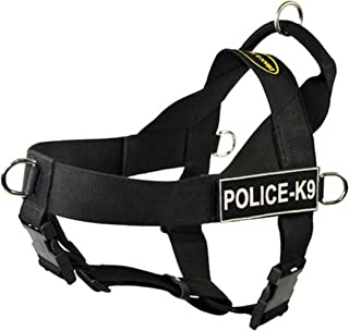 DT Universal No Pull Dog Harness, Police-K9, Black, Small, Fits Girth Size: 24-Inch to 27-Inch