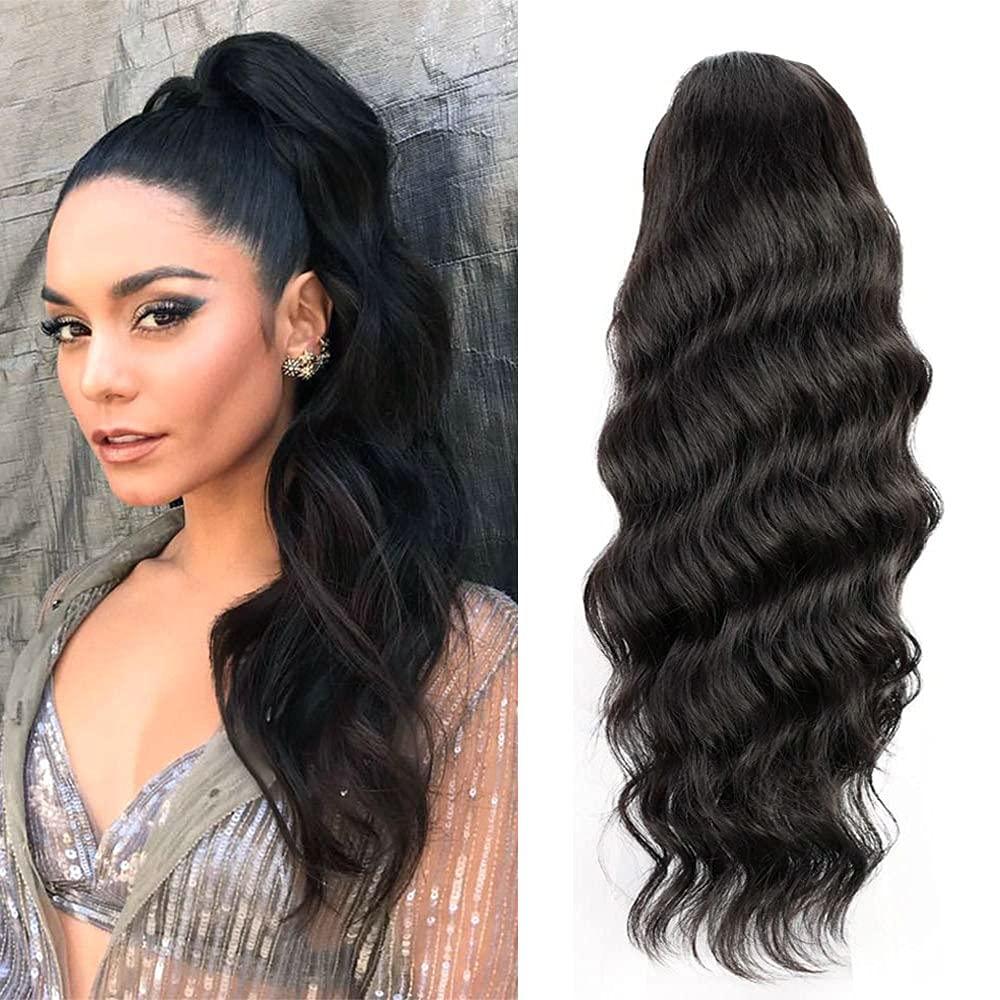 Bex Body ☆新作入荷☆新品 物品 Wave Human Hair Drawstring Curly Ponytail Extension Pon