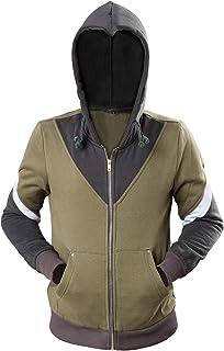 Ya-cos Cosplay Costume Link Hooded Sweater Hyrule Warriors Zipper Coat Jacket Green for Girl Boy