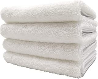 Polyte Quick Dry Lint Free Microfiber Hand Towel, 16 x 30 in, Set of 4 (White)