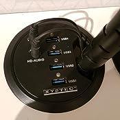 etc hub USB dordinateur TV pour couvrir et dissimuler les multiprises Noir Cuasting Lot de 2 bo/îtes de rangement pour c/âbles