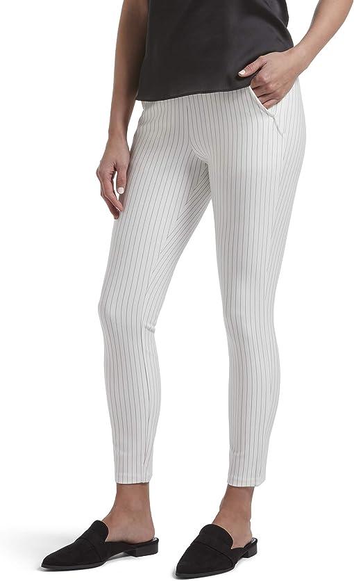 Bright White Pinstripe