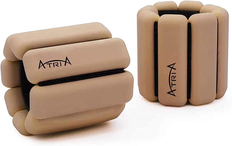 Yoga Aerobics Walking Wrist Weight   Pilates Barre Fully Adjustable Wearable Wrist /& Ankle Weights   2 Per Set,1 Pound Each Cardio ATRIA Bangles Dance