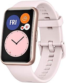 "HUAWEI Watch Fit- Reloj Inteligente, Pantalla AMOLED 1.64"", 4GB, Bluetooth, Correa de Silicona Rosa"