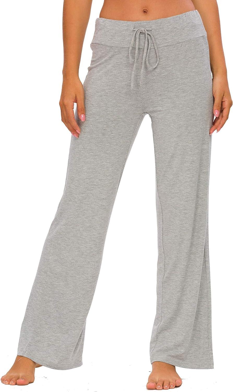 TIKTIK Womens Lounge Pants Casual Wide Leg Pajama Pant Stretch Sleep Bottoms Plus Size Sleepwear S-4XL
