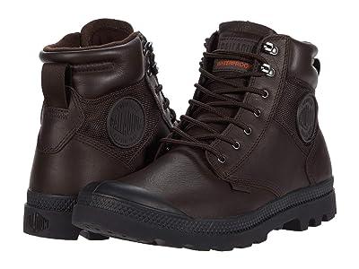 Palladium Pampa Shield WP+ LTH (Dark Brown) Lace-up Boots