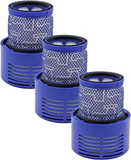 Wolfish 3 Pack Replacement Filter for Dyson V10, SV12 Cyclone Animal Absolute Total Clean Vacuum Cleaners, Replace Part 969082-01