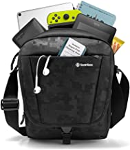 tomtoc Crossbody Bag, Travel Bag Waterproof Shoulder Bag for 10 Inch New iPad Air, iPad Mini 2019 and New iPad Pro 11 Inch with Large Storage Shoulder Strap & Accessory Pockets, RFID Safe Slot