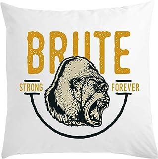 Desconocido Gorrilla Brute Strong Forever Almohada Blanca 40x40cm
