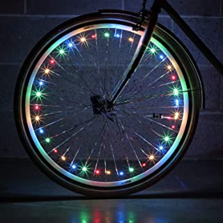 Monkey Light NLX1 LED Bike Wheel Lights. Assembled in USA. Attaches to Spokes Near The tire. 100% More LEDs, 40 LEDs Included. Fully Waterproof and Durable Cool Bicycle Accessory.
