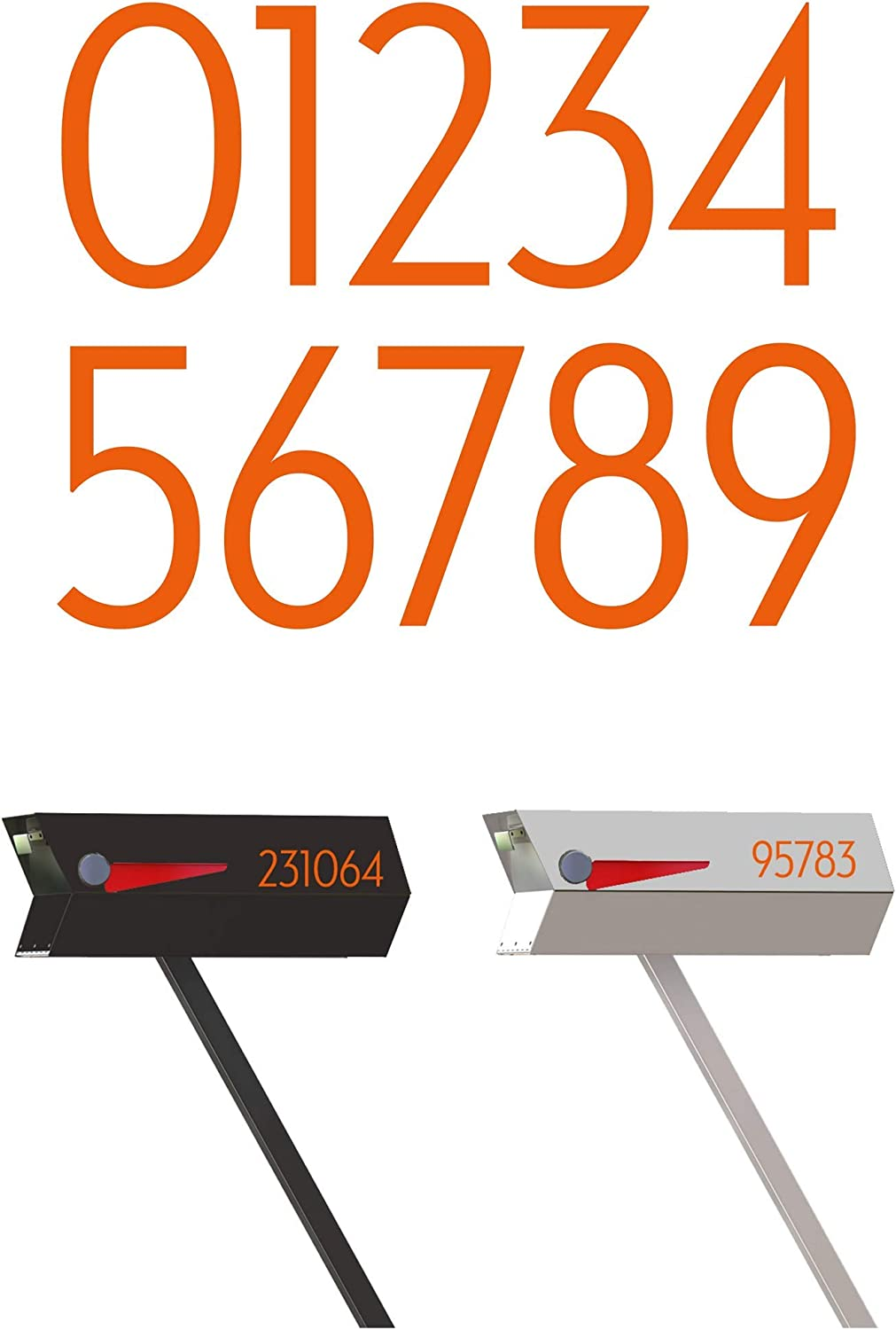 OFFicial shop modbox USA Modern Mailbox Numbers Custom Cut of to Order Selling Set 2