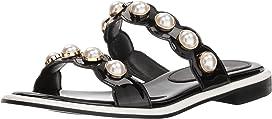 Pearl Ornament Flat Sandals