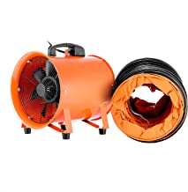VEVOR Utility Blower Fan 12 Inch Portable Ventilator High Velocity Utility Blower Mighty Mini Low Noisewith 5M Duct Hose (12 Inch with 5M Duct Hose)