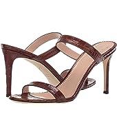 Giuseppe Zanotti - Calista Croc Embossed Slide Heel Sandal