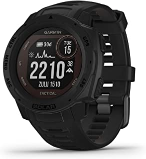 Garmin Instinct Solar, Tactical Edition, Rugged Outdoor GPS Watch, Black