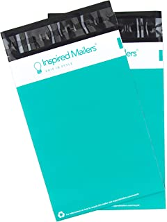 Inspired Mailers - Teal Poly Mailers 6x9-100 Pack - Choose from Many Size and Color Options - 3.15mil Unpadded Packaging Envelopes (6x9, 100 Pack)