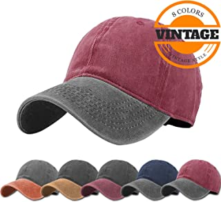 c24b3e2786a Unisex Vintage Washed Distressed Baseball-Cap Twill Adjustable Dad-Hat