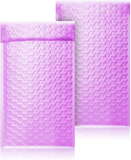 PackaPro #0 Poly Self-Seal Bubble Mailer 6X10 Special Extra Wide (actual size 7X10) Padded Envelopes Pack of 50 - Purple