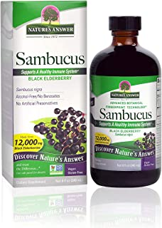 Nature's Answer Sambucus Elder Berry Extract Syrup 8 Ounce ( 3 Pack ) | Daily Immune Support | Packed with Antioxidants | ...