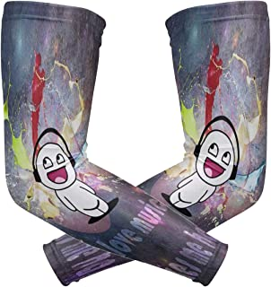 Arm Sleeve Wallpaper I Love Music It Makes Me Happy Sports Compression/UV Protection/Dry-Fast Breathable/Warmth for Men Women Cycling/Golf/Basketball 1 Pair