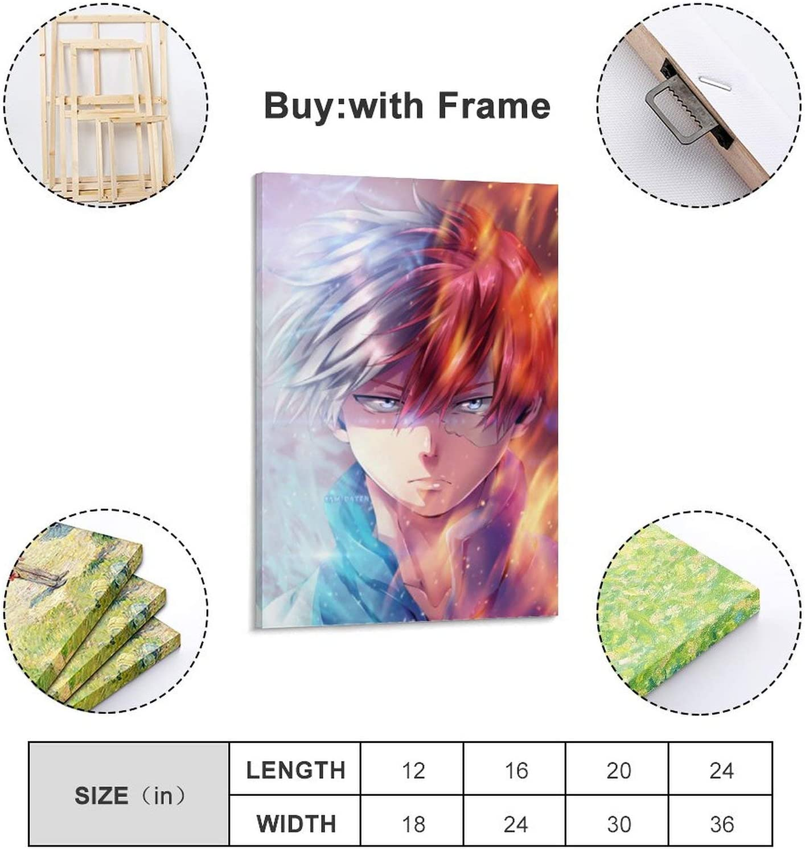 LIANGBO P/óster Shoto Todoroki para pared de sal/ón p/óster para dormitorio 20 x 30 cm