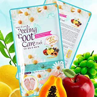 Foot Peel Mask, Sense of Care Foot Peeling Mask Pack 0.68fl.oz / 20ml Exfoliating and Moisturizing, Removing Calluses, Smo...