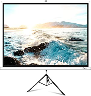 Projector Screen with Stand, ELEPHAS M100S 100 Inch 4: 3 4K HD Projection Movie Screen with Tripod Stand for Home Theater, Indoor Outdoor Pull Down 1.Gain Wrinkle-Free, 160° Viewing Angle